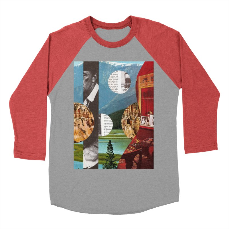 Memory Landscapes Men's Baseball Triblend Longsleeve T-Shirt by Artist Shop of Pyramid Expander