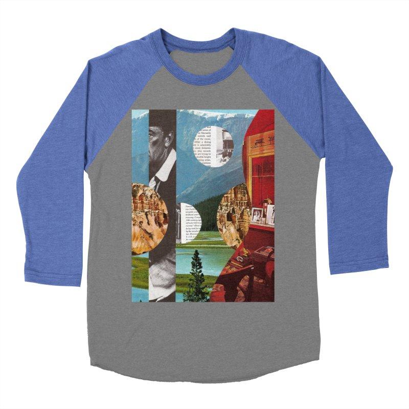 Memory Landscapes Men's Baseball Triblend Longsleeve T-Shirt by Artist Shop of Pyramid Expander