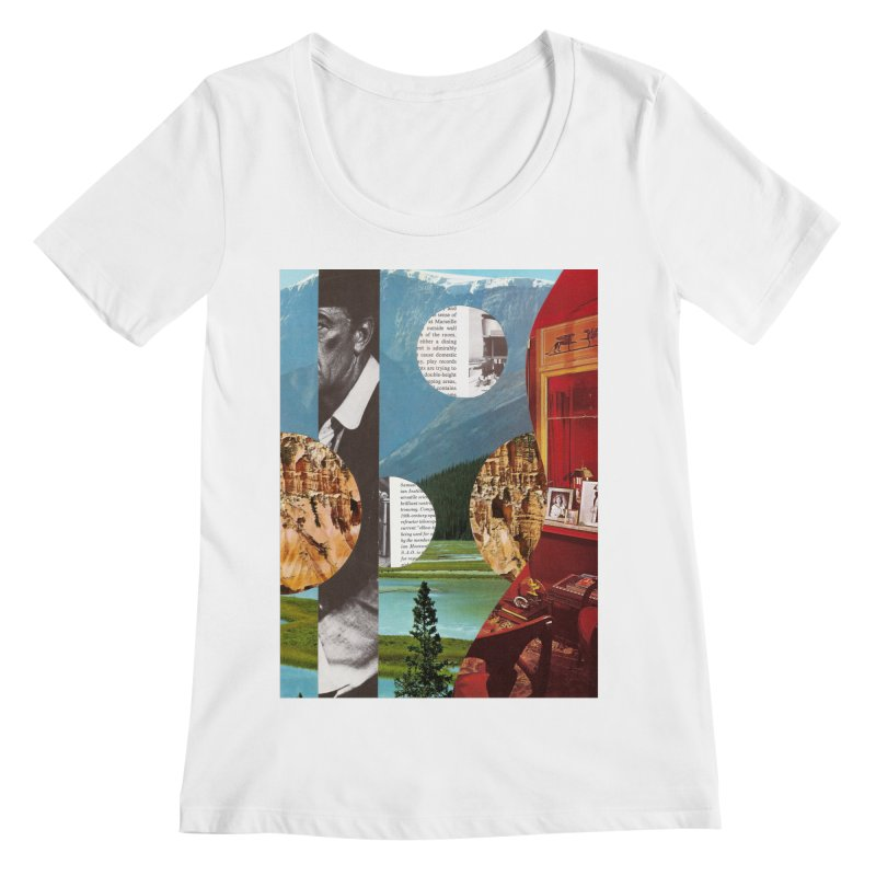 Memory Landscapes Women's Regular Scoop Neck by Artist Shop of Pyramid Expander