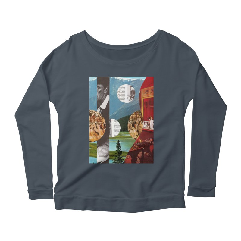 Memory Landscapes Women's Scoop Neck Longsleeve T-Shirt by Artist Shop of Pyramid Expander