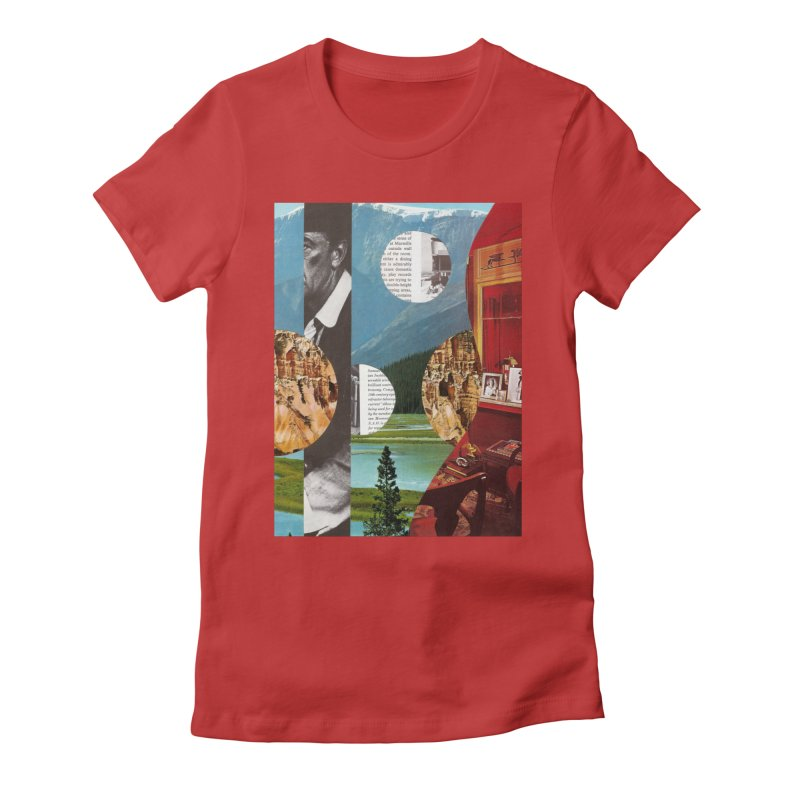 Memory Landscapes Women's Fitted T-Shirt by Artist Shop of Pyramid Expander