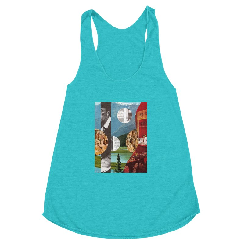 Memory Landscapes Women's Racerback Triblend Tank by Artist Shop of Pyramid Expander