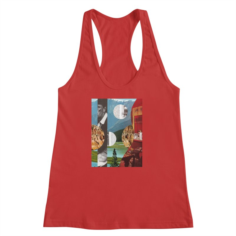Memory Landscapes Women's Racerback Tank by Artist Shop of Pyramid Expander