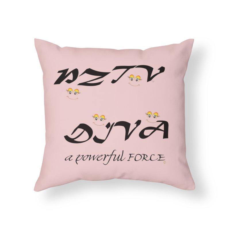 PZTV DIVA 02  in Throw Pillow by PZTV ART CO's Artist Shop