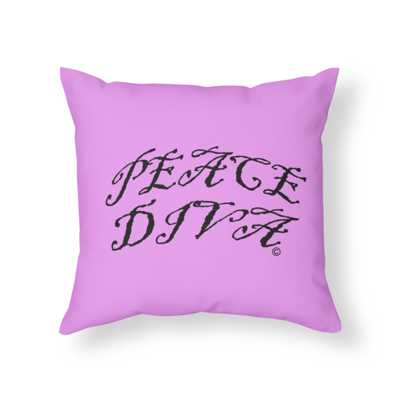 PEACE DIVA 01 in Throw Pillow by PZTV ART CO's Artist Shop