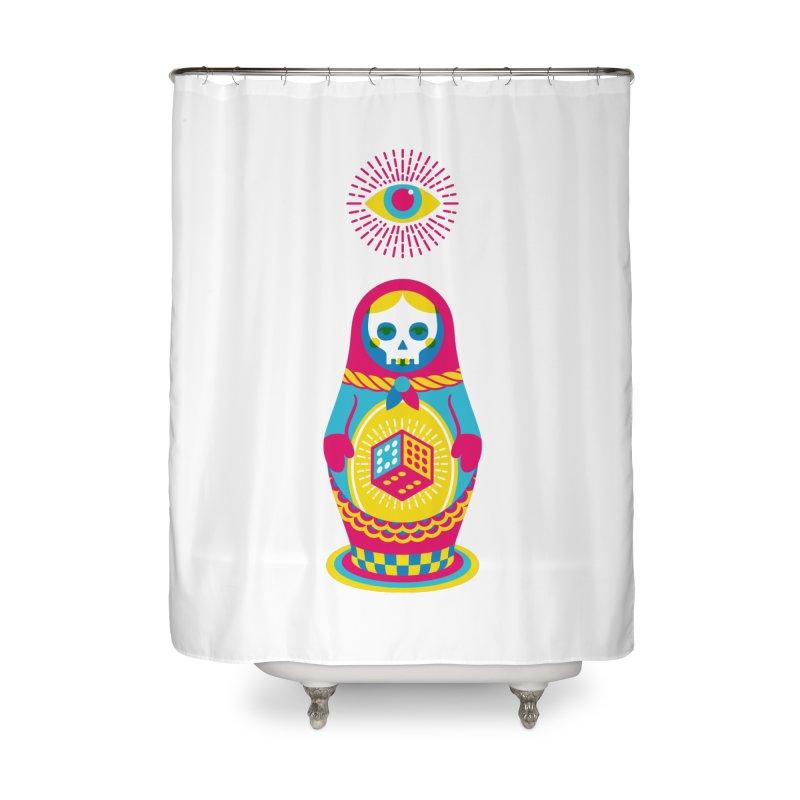 Blind Faith Home Shower Curtain by Quick Brown Fox