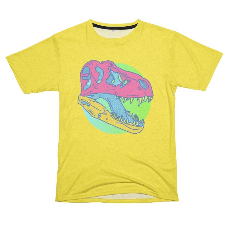 Sickasaurus Rex Women's Unisex French Terry T-Shirt Cut & Sew by Quick Brown Fox