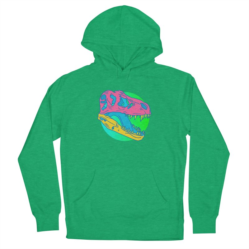 Sickasaurus Rex Men's French Terry Pullover Hoody by Quick Brown Fox