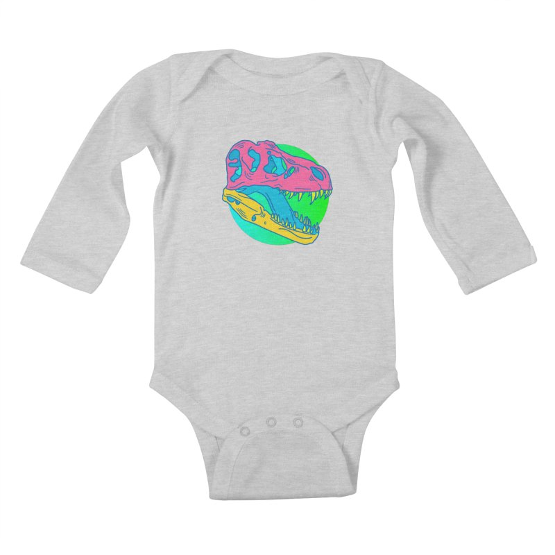 Sickasaurus Rex Kids Baby Longsleeve Bodysuit by Quick Brown Fox