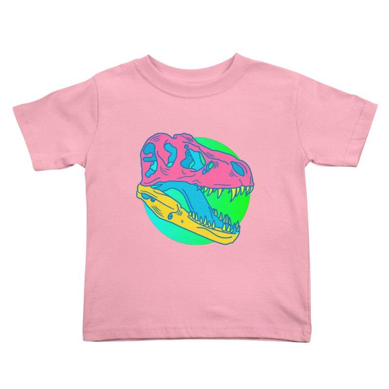 Sickasaurus Rex Kids Toddler T-Shirt by Quick Brown Fox