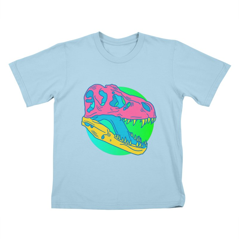 Sickasaurus Rex Kids T-Shirt by Quick Brown Fox