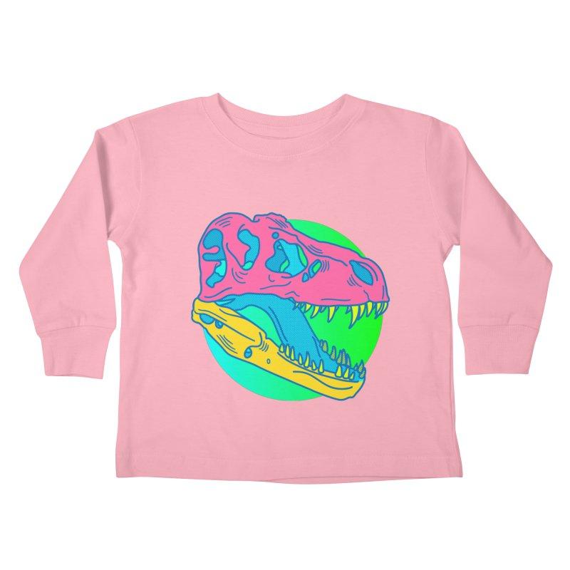 Sickasaurus Rex Kids Toddler Longsleeve T-Shirt by Quick Brown Fox