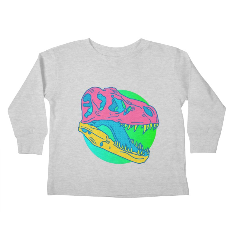 Sickasaurus Rex Kids Toddler Longsleeve T-Shirt by Quick Brown Fox