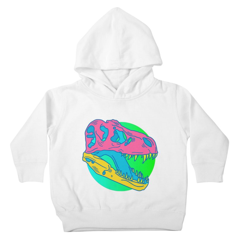 Sickasaurus Rex Kids Toddler Pullover Hoody by Quick Brown Fox