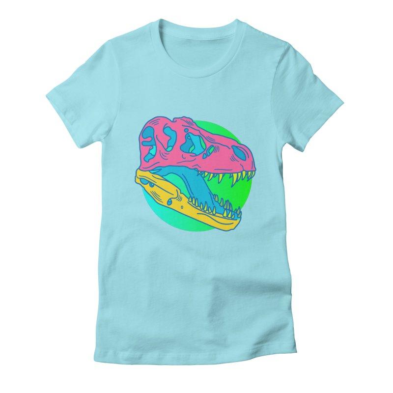 Sickasaurus Rex Women's Fitted T-Shirt by Quick Brown Fox