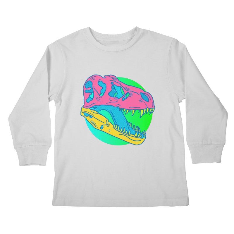 Sickasaurus Rex Kids Longsleeve T-Shirt by Quick Brown Fox