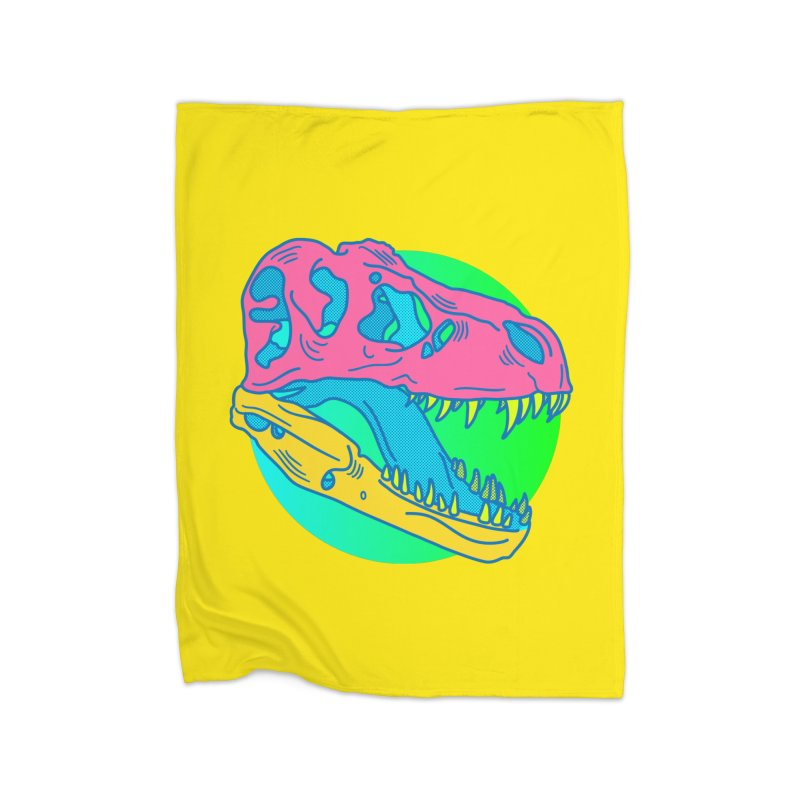 Sickasaurus Rex Home Fleece Blanket Blanket by Quick Brown Fox