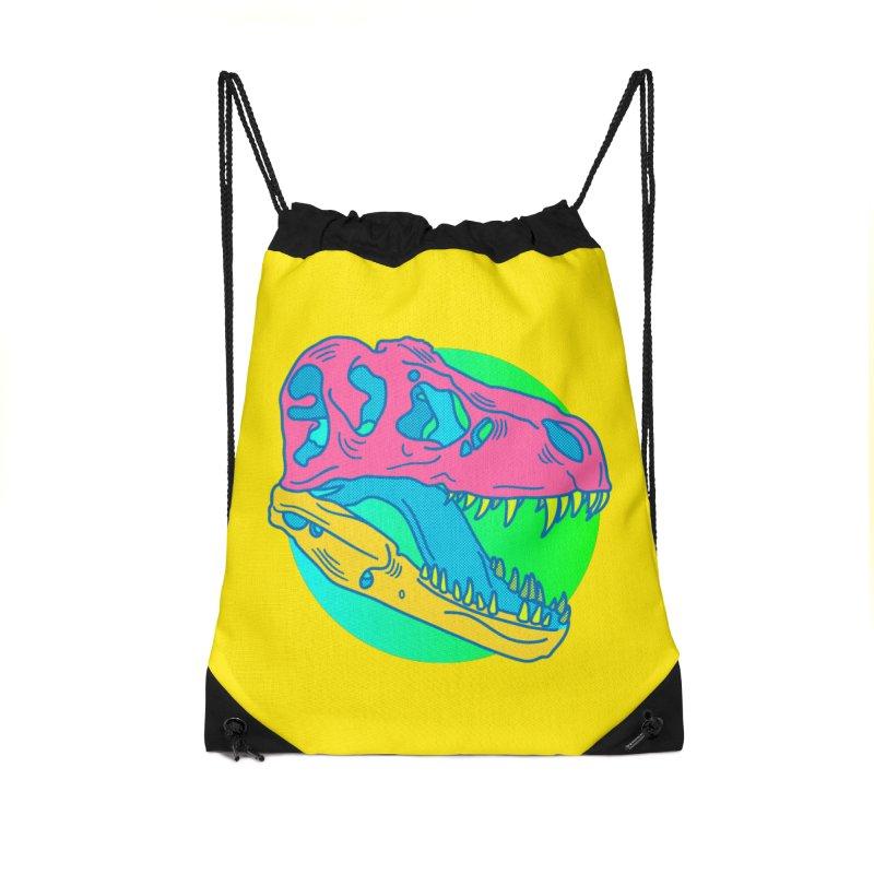 Sickasaurus Rex Accessories Drawstring Bag Bag by Quick Brown Fox