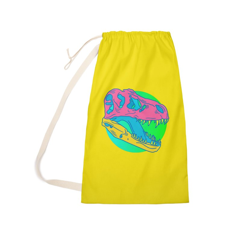 Sickasaurus Rex Accessories Laundry Bag Bag by Quick Brown Fox