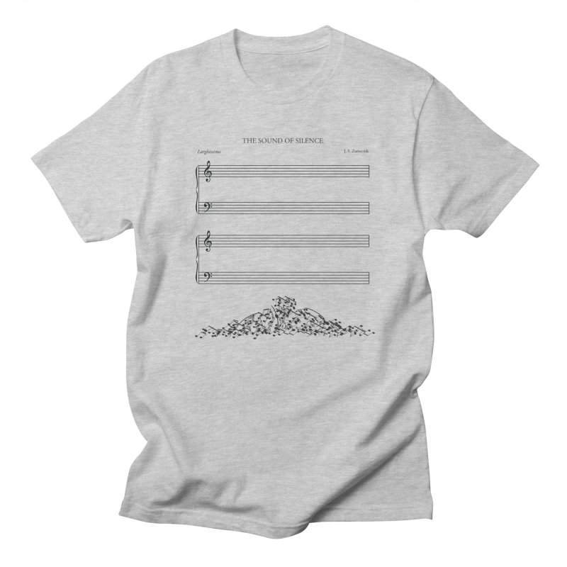 The Sound of Silence Men's T-shirt by Quick Brown Fox