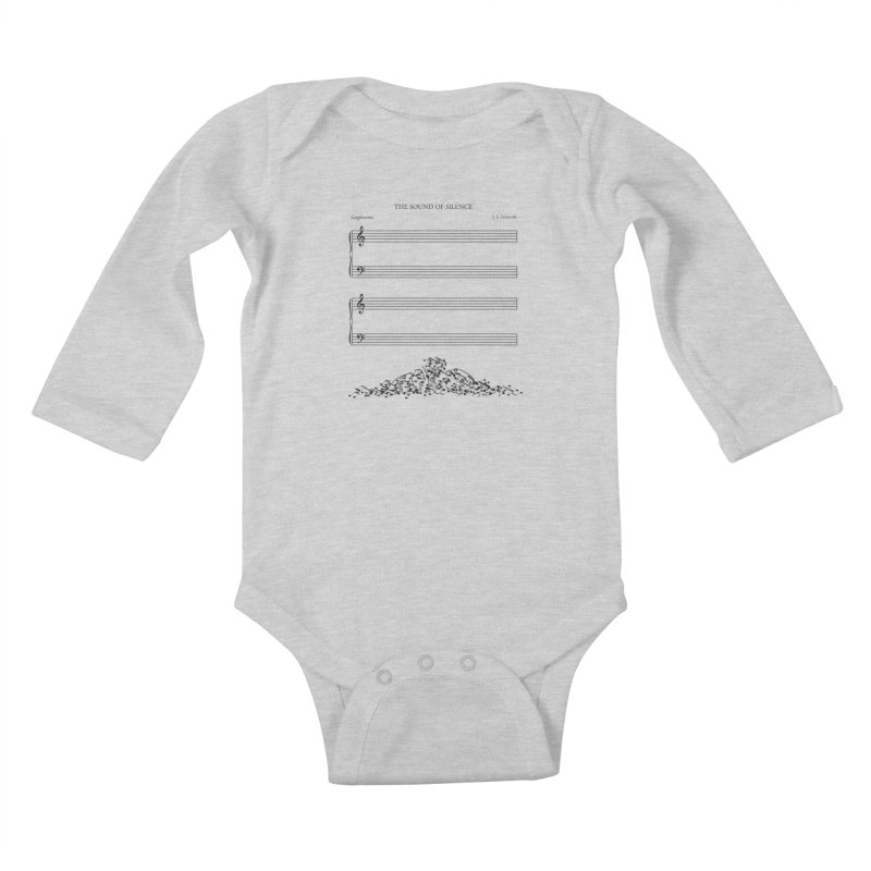 The Sound of Silence Kids Baby Longsleeve Bodysuit by Quick Brown Fox