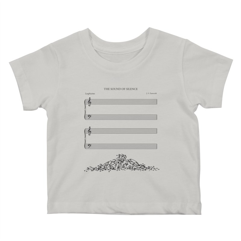 The Sound of Silence Kids Baby T-Shirt by Quick Brown Fox