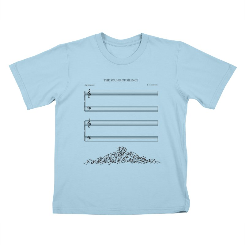 The Sound of Silence Kids T-shirt by Quick Brown Fox