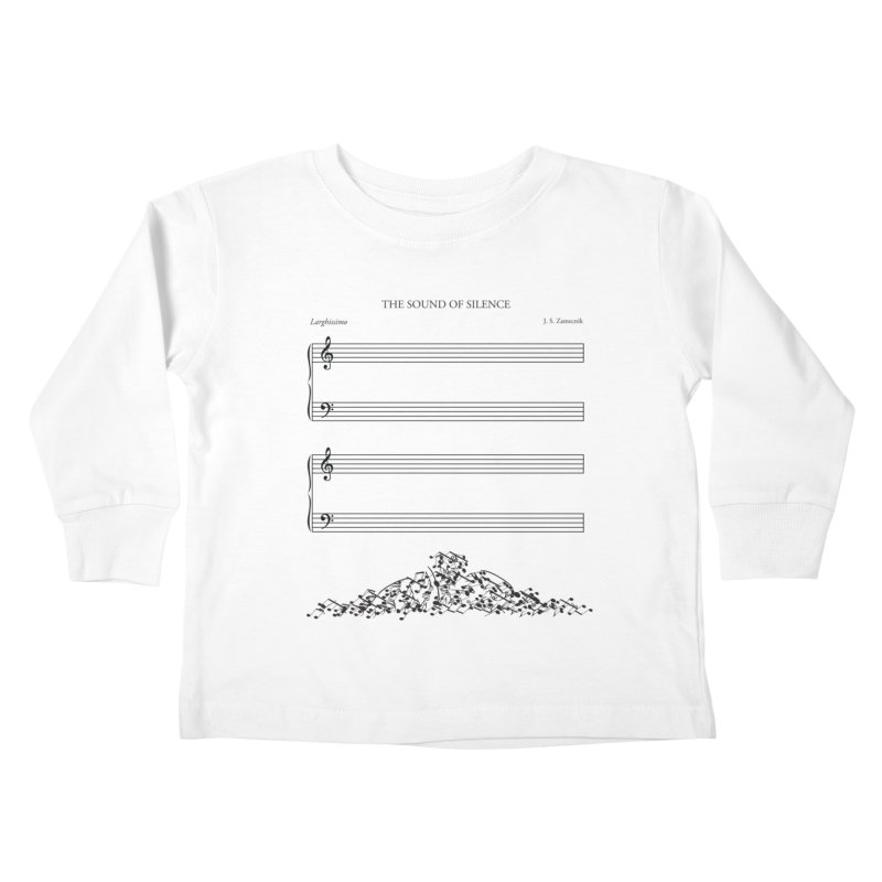 The Sound of Silence Kids Toddler Longsleeve T-Shirt by Quick Brown Fox