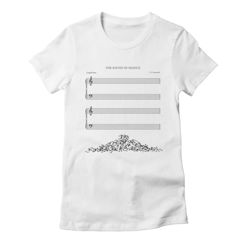 The Sound of Silence Women's Fitted T-Shirt by Quick Brown Fox