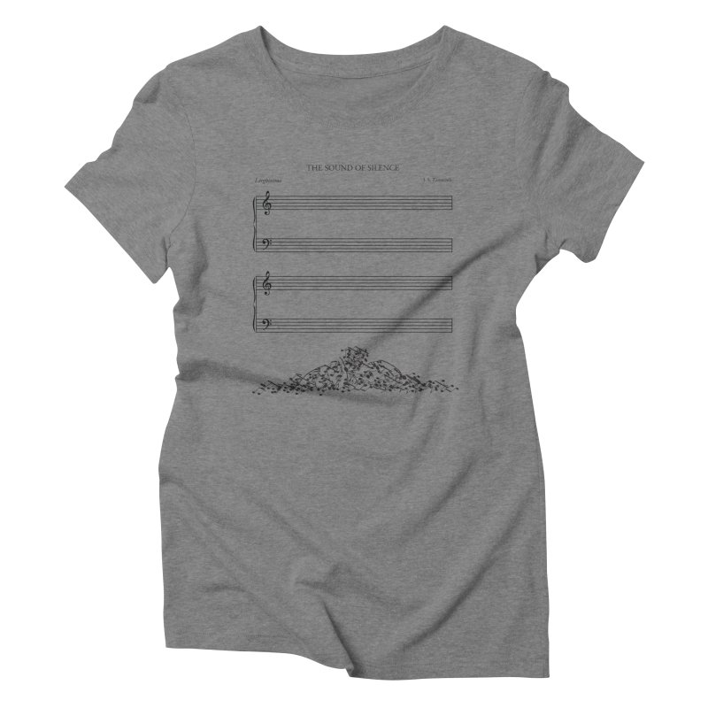 The Sound of Silence Women's Triblend T-shirt by Quick Brown Fox