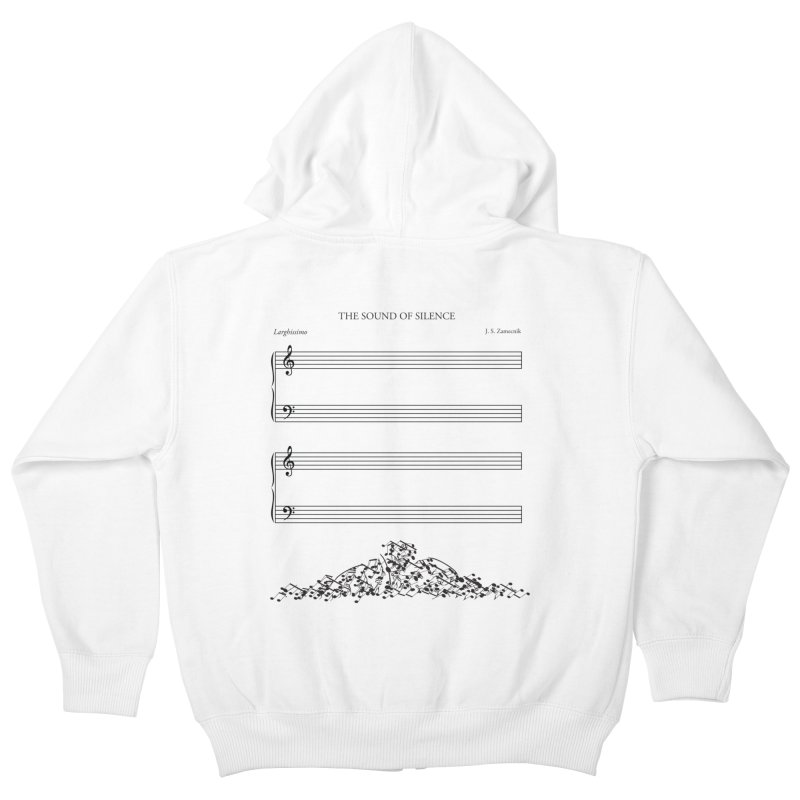 The Sound of Silence Kids Zip-Up Hoody by Quick Brown Fox