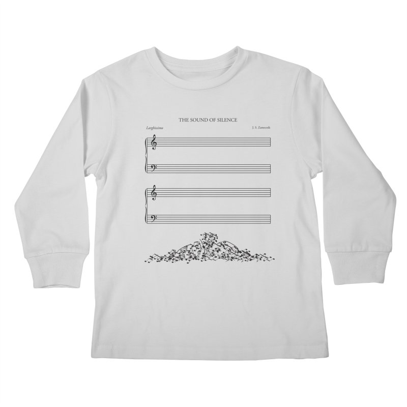 The Sound of Silence Kids Longsleeve T-Shirt by Quick Brown Fox