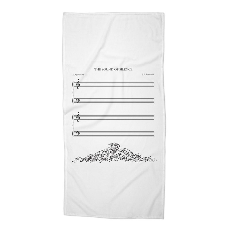 The Sound of Silence Accessories Beach Towel by Quick Brown Fox