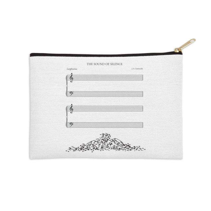 The Sound of Silence Accessories Zip Pouch by Quick Brown Fox