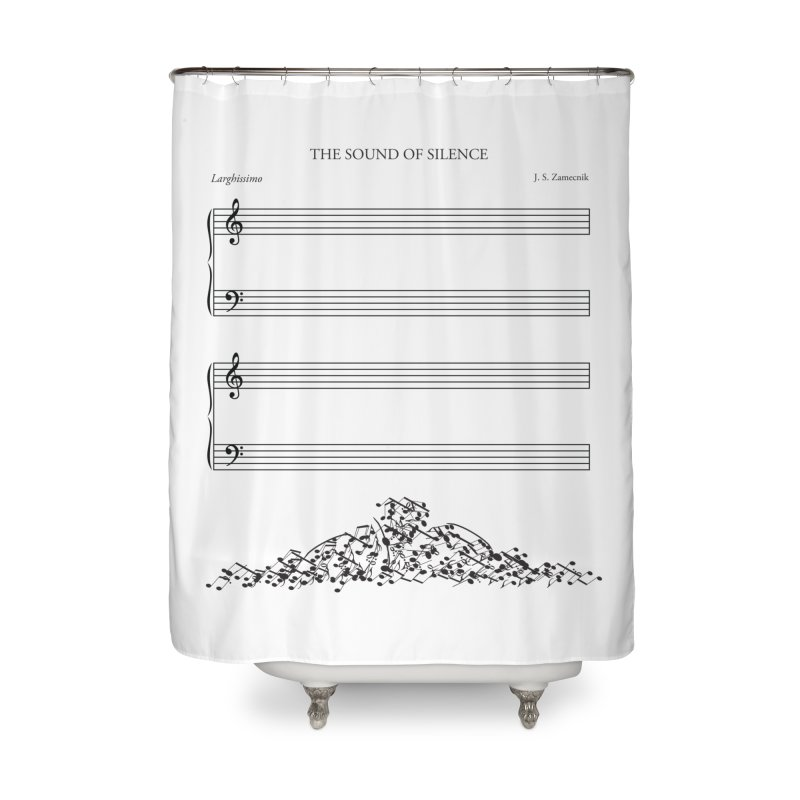The Sound of Silence Home Shower Curtain by Quick Brown Fox
