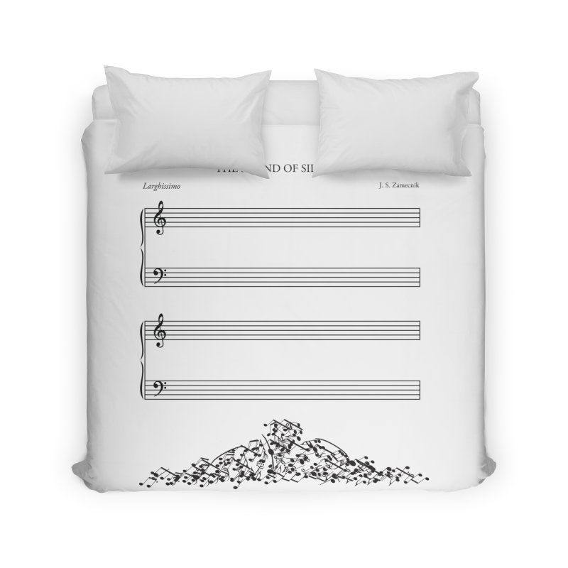 The Sound of Silence Home Duvet by Quick Brown Fox