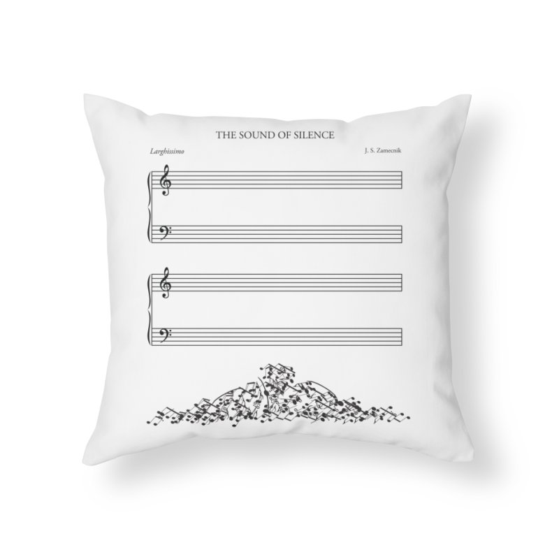 The Sound of Silence Home Throw Pillow by Quick Brown Fox