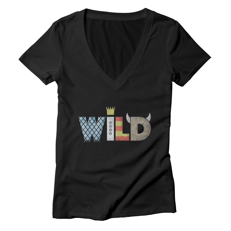Where The Wild Type Is Women's Deep V-Neck V-Neck by Quick Brown Fox