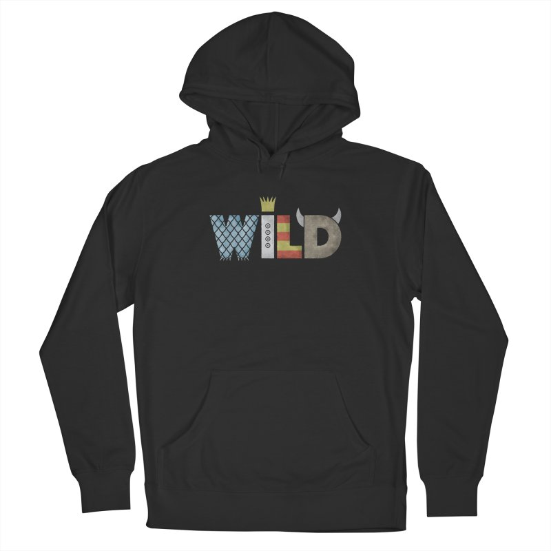 Where The Wild Type Is Men's French Terry Pullover Hoody by Quick Brown Fox