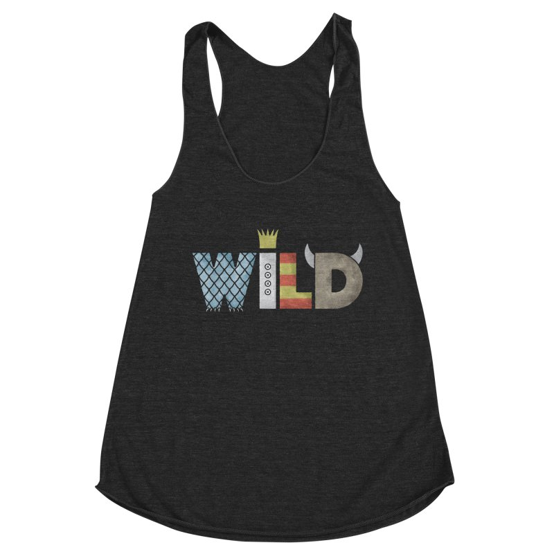 Where The Wild Type Is Women's Racerback Triblend Tank by Quick Brown Fox