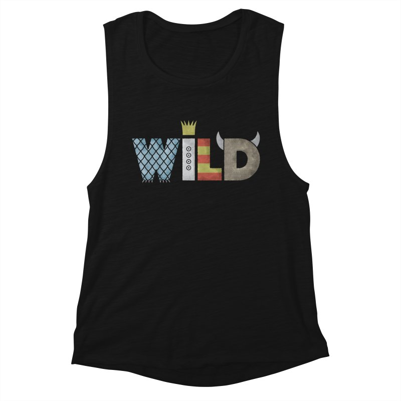 Where The Wild Type Is Women's Muscle Tank by Quick Brown Fox