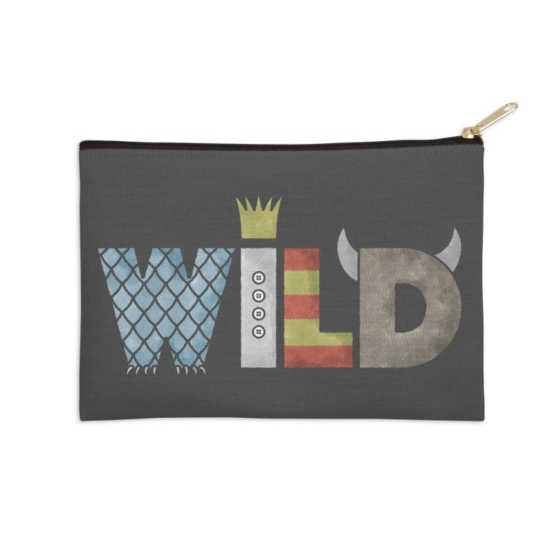 Where The Wild Type Is Accessories Zip Pouch by Quick Brown Fox