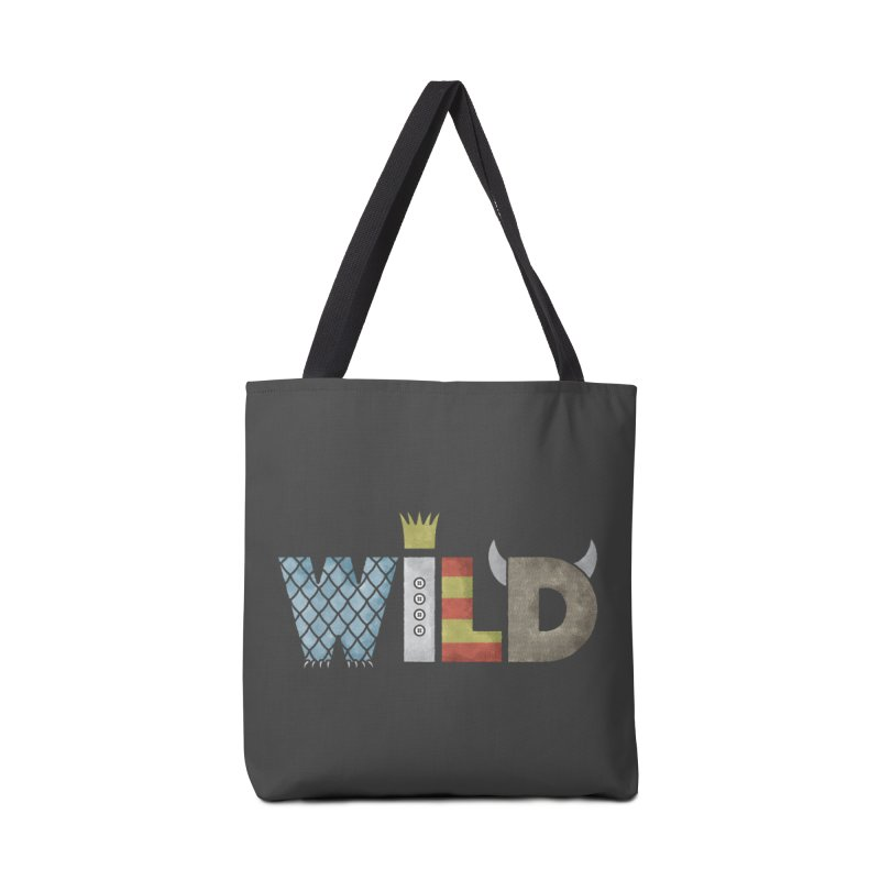 Where The Wild Type Is Accessories Tote Bag Bag by Quick Brown Fox