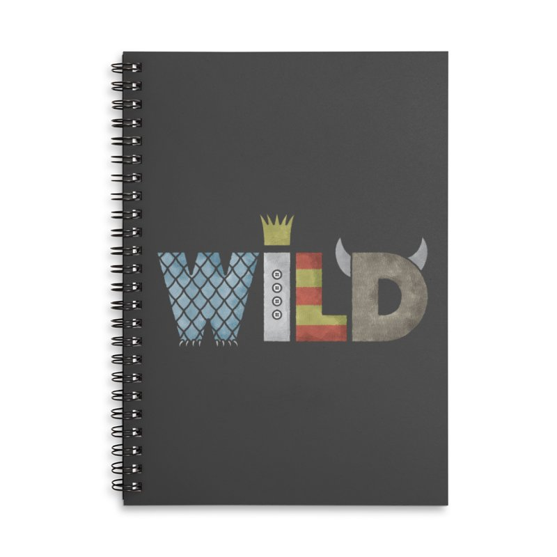 Where The Wild Type Is Accessories Lined Spiral Notebook by Quick Brown Fox