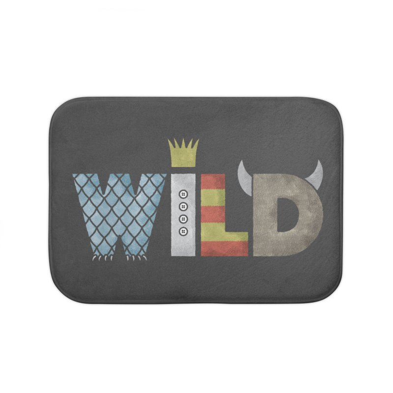 Where The Wild Type Is Home Bath Mat by Quick Brown Fox