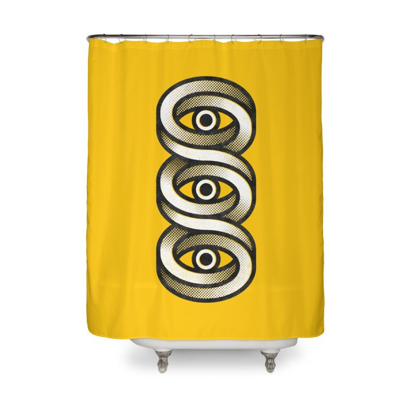 Eye Eye Eye Home Shower Curtain by Quick Brown Fox