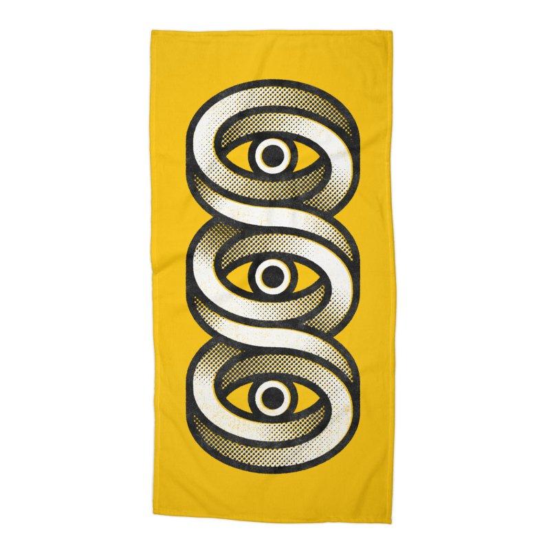 Eye Eye Eye Accessories Beach Towel by Quick Brown Fox