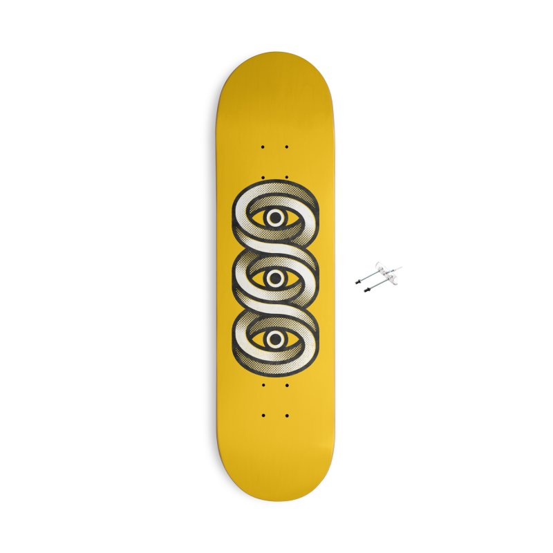 Eye Eye Eye Accessories With Hanging Hardware Skateboard by Quick Brown Fox