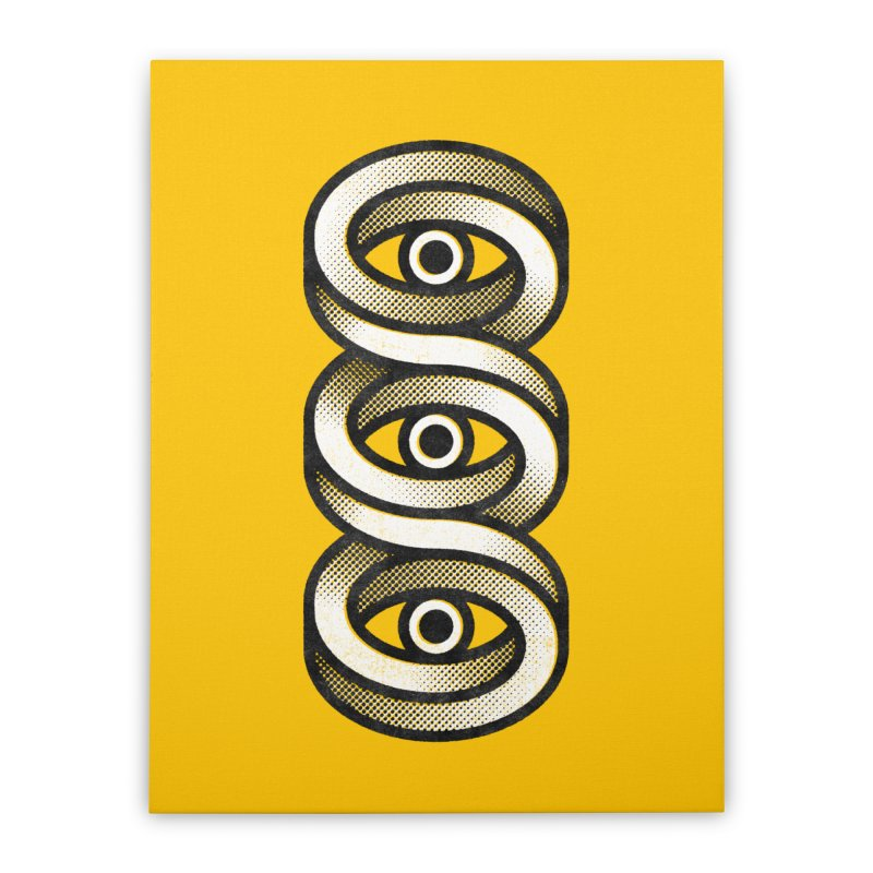 Eye Eye Eye Home Stretched Canvas by Quick Brown Fox
