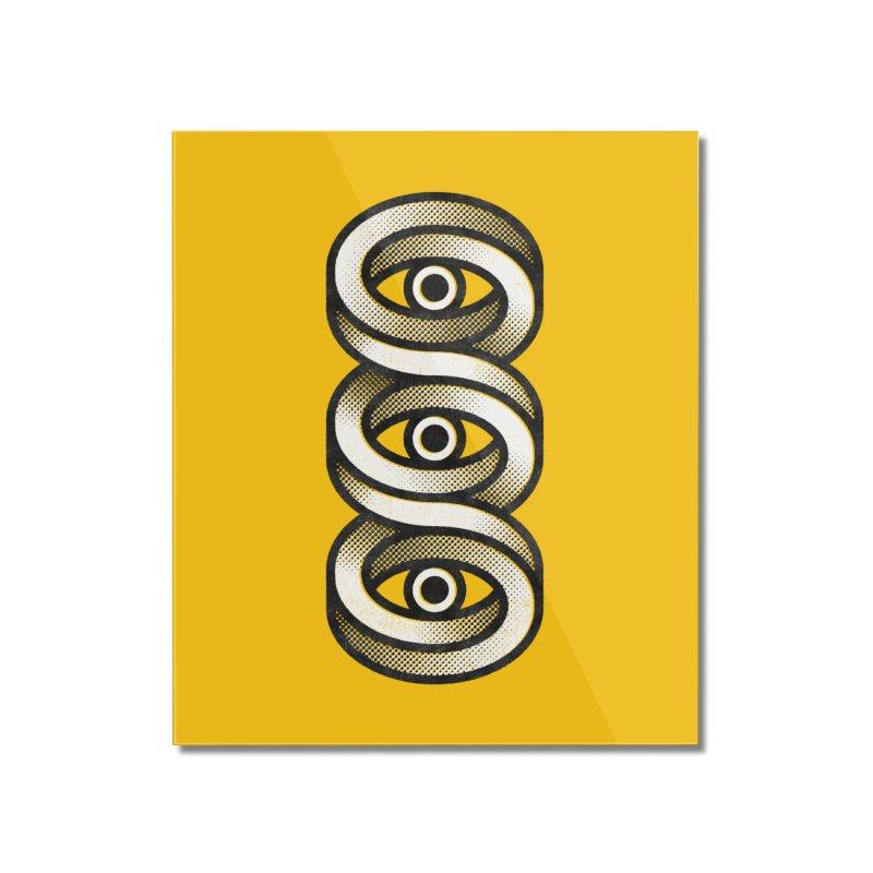 Eye Eye Eye Home Mounted Acrylic Print by Quick Brown Fox